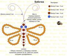 scheme weaving simple butterfly bead