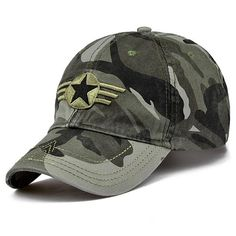 Cheap camo baseball hat, Buy Quality baseball hat directly from China baseball cap Suppliers: MNKNCL 2018 New Arrival Men Pentagram Cap Top Quality Baseball Caps Camouflage Hunting Fishing Hat Camo Baseball Hats Adjustable Military Cap, Military Camouflage, Army Camo, Military Style, Baseball Caps, Baseball Ring, Baseball Memes, Basketball Quotes, Us Army Logo