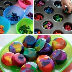 Great idea , making use of all your old crayons.