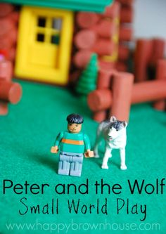 Peter and the Wolf Small World Play idea for kids. Perfect for retelling the story and helping kids understand the classical music.