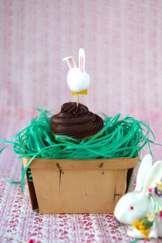 Bunny Cupcake Toppers DIY- I LOVE THIS SO MUCH!!