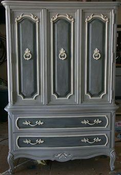 Paper Daisy Designs: A little bit of Paris...grey Annie Sloan Chalk Paint. Paris Grey and Graphite Paint Armoire?