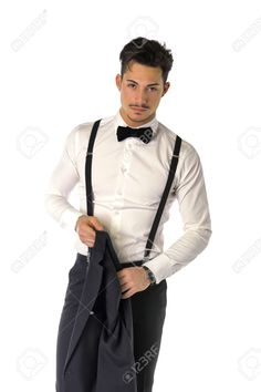 Handsome Elegant Young Man With Business Suit, Suspenders And.. Stock Photo, Picture And Royalty Free Image. Image 38805447.