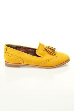 Mustard Tassel Loafers / Dollhouse $20