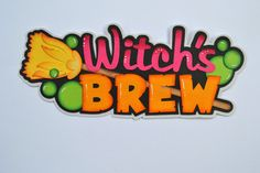 For your consideration is a Paper Piecing Witchs Brew title. You will receive exactly what you see in the picture above. The title measures about 2.75x6.75 I cut, chalked and detailed these pieces myself using only AF Materials. Smoke free home Patterns by Miss Kate Cuttables