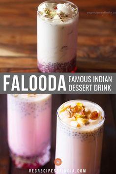 Summer Drink Recipes, Summer Drinks, Falooda Recipe, Indian Dessert Recipes, Indian Recipes, Mango, Fun Baking Recipes, Dessert Drinks, Coffee Recipes