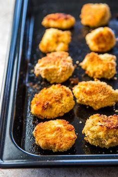 Homemade Healthy Chicken Nuggets are easy to bake in your oven. Make them for the kids!