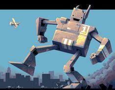 Project Giant Robot Nintendo Wii U Pixel Art Xtreme Retro