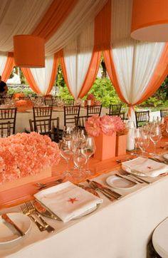 101 Best Orange White Wedding Images American Wedding Cake