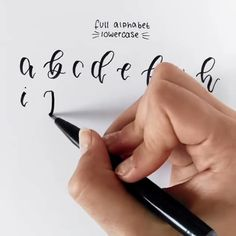 How to letter whole alphabet in lowercase👉Shop watercolor items at www. Calligraphy Handwriting, Calligraphy Alphabet, Calligraphy Letters, Penmanship, Caligraphy, Bullet Journal Art, Bullet Journal Ideas Pages, Bullet Journal Inspiration, Calligraphy Tutorial