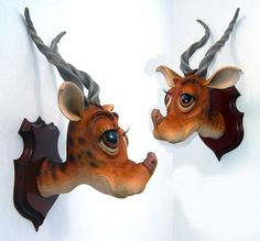 These Whimsical, Whoozical Animal Head Trophies are Seuss-Tastic