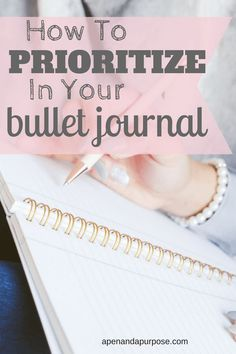 Learn a simple trick for prioritizing tasks in your bullet journal. Use your bullet journal to organize your life and increase productivity. #bulletjournal #productivity #bujo