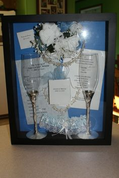 Wedding Shadow Box...i should do this with our wedding things for our anniversary next month