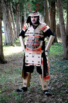 A Samurai suit made entirely from pizza boxes? Gloucestershire Resource Centre http://www.grcltd.org/scrapstore/