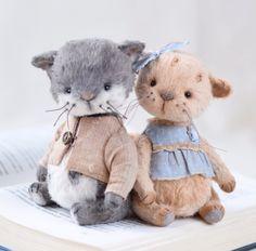 Милые крохи от @annameteleva Если вы тоже влюбились, ставьте ❤❤❤ мастеру! Как попасть в ленту? Нажмите на активную ссылку в шапке профиля #мишкитедди#мишки#тедди#ооак#амиильт#милота#зверики#котики#teddy#ooak#bear#dolls#cats#handymade#handycraft#art#master