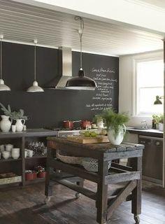 El negro es el nuevo blanco en la cocina