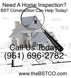 Need A Home Inspection? BST Construction Can Help Today! Call Us Today (951) 696-2782 www.thebstco.com #inspection #knowyoursafe #homeinspection #homeinsurance #homeinspector #inspector #california #construction #contractor #safehome #consultation #homeimprovement #inspectionservices #homeinspectionservices