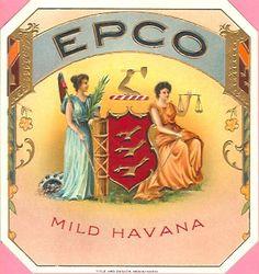 vintage cigar labels   Epco 'Mild Havana' Vintage Cigar Box Label   eBay Havana Cigars, Cuban Cigars, Cigar Boxes, Wine Boxes, Vintage Cigar Box, Cigar Art, Vintage Labels, Illustration Art, Advertising