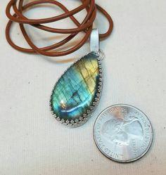Labradorite necklace, labradorite with hearts necklace, Boho necklace, Hippie necklace, Bohemian necklace, Blue Labradorite, Gypsy necklace by barefootcustomjewelr on Etsy
