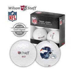 defcc53e0 Denver  Broncos Wilson Staff 50 Golf Balls 4-Pack. Click to order!