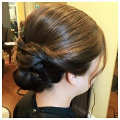 twisted low bun updo by Do's & Dye by Julie in West Hartford, CT