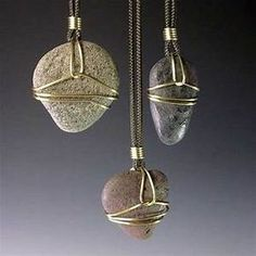Wire wrapped stones pinterest crafts