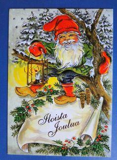 Ingrid Elf Gnomes, Elf, Christmas Cards, Visual Arts, Sweden, Painting, Board, Xmas, Inge Look