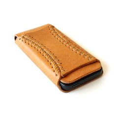 Very cool baseball stitching iphone case wallet