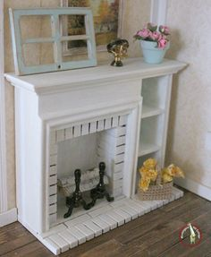 dollhouse miniatures fireplace