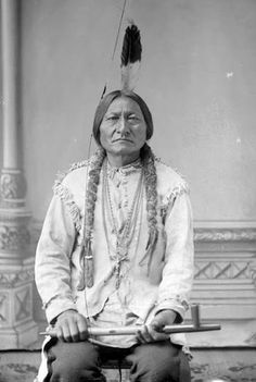 Sitting Bull - Hunkpapa - 1888  Note the crucifix he is wearing, usually cropped in textbooks. He was baptized Catholic and attended Mass. His main objection though, was his refusal to give up three of his four wives.
