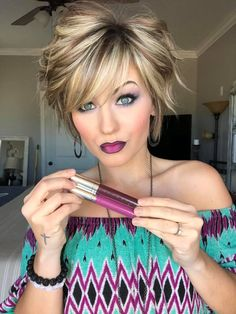 Trending Short Layered Hairstyles 2019 - All For New Hairstyles Trending Hairstyles, Short Hairstyles For Women, Short Layered Hairstyles, Easy Hairstyles, Long Face Hairstyles, Spring Hairstyles, Hairstyles 2016, Beautiful Hairstyles, Updo Hairstyle