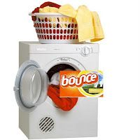 No more dryer sheets. I gave up bounce sheets years ago. I just mix 2 parts water, 1 part softener in a spray bottle, put clothes in dryer, a few sprays and dry away. Clothes are soft, and never a stain. My dryer is 18 years old. No problems. Homemade Dryer Sheets, Homemade Fabric Softener, Fabric Softener Sheets, Homemade Cleaning Supplies, Diy Cleaning Products, Cleaning Hacks, Homemade Products, Household Products, Diy Products