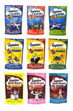 Temptations Middles Cat Treat Variety Pack - 9 Flavors (3 Ocean Middles Flavors, 3 Cheezy Middle Flavors, and 3 Steak Shoppe Flavors) - 2.47 Oz Each (9 Total Pouches) >>> Visit the image link more details. (This is an affiliate link and I receive a commission for the sales)