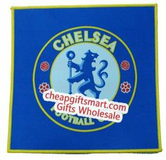 Chelsea F.C. Edge-Lock Cloth Surface Square Mouse Mat