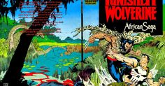 #PUNISHER#WOLVERINE by Carl Potts (Author) Jim Lee (Author) Published in Oct. of 1989 It's the Punisher vs. Wolverine! Softcover 48 pages full color.    THE PUNISHER AND WOLVERINE IN AFRICAN SAGA [ENG]
