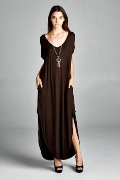 Long loose fitting lounge dress with pockets.   Shop this product here: spree.to/ax7h   Shop all of our products at http://spreesy.com/JewelsByScarlett      Pinterest selling powered by Spreesy.com