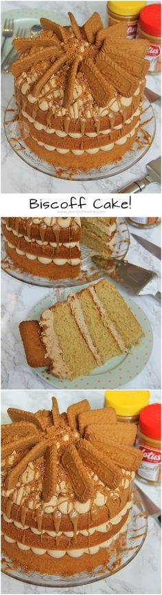 Biscoff Cake!! A Delicious and Moist 3-layer Biscoff Cake with Lotus Biscuits! Perfect Spiced and Sweet cake for all Biscoff Lovers out there!