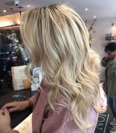 Balayage  cool blonde  blonde hair  Goldwell  b3  ombré  baby