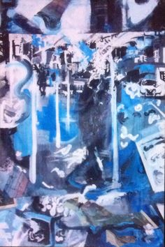 '125th Street.' (Detail) Acrylic and Mixed Media On Canvas. #RosannaJacksonWright #Art #Painting #Drawing #Detail #Street #CityScape #Urban #Abstract #Figurative #York #England #NYC #USA #Genoa #Italy #Mexico #Philippines #Kingston #Jamaica #Bronx #Harlem