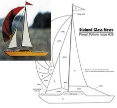 Free SGN Pattern #28 Gone Sailing Suncatcher