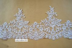 17cm Wide Embroidery Lace Trim Bridal Wedding Lace Trimming