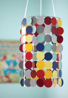 Use those paint chips lying around to create a fun DIY mobile.