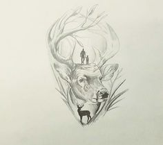 Hunting Best Picture For Hunting Tattoos for women For Your Taste You are looking for something, and Jäger Tattoo, Wolf Tattoo Sleeve, Dad Tattoos, Body Art Tattoos, Sleeve Tattoos, Tattoos For Guys, Tree Tattoos, Raven Tattoo, Samoan Tattoo