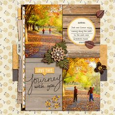 #papercraft #scrapbook #layout    Fall / Autumn digital scrapbook layout by christineirion using Country Road by Sahlin Studio