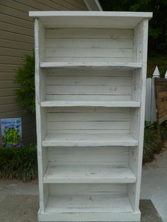 Distressed Pallet Bookcase by jessicaashlock on Etsy