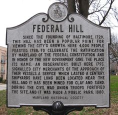 Federal Hill, Baltimore. Learn more about this historic neighbor: http://baltimore.org/baltimore-neighborhoods/federal-hill