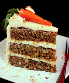 Super Moist Banana Carrot Cake with Cream of Coconut – Cream Cheese Frosting