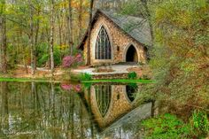 Outdoor Chapel at Callaway Gardens, Georgia - pretty :) and it's just as charming on the inside.