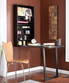 Southern Enterprises Black Wall Mount Craft Desk | Daily deals for moms, babies and kids