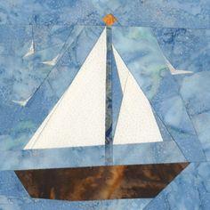 August Sailboat Quilt Block Pattern